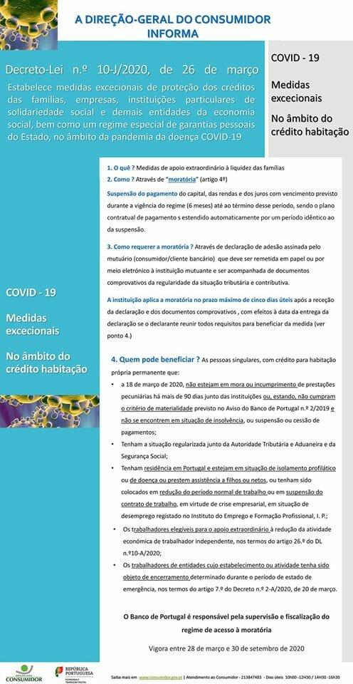 Aprovadas medidas excecionais no âmbito do crédito habitação – Decreto-Lei n.º 10-J/2020, de 26 de março