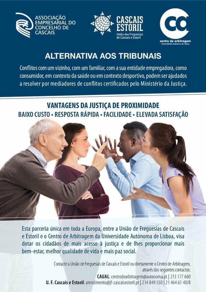 Informação | Alternativa aos tribunais – Parceria com Centro de Arbitragem da Autónoma e Freguesia de Cascais/Estoril