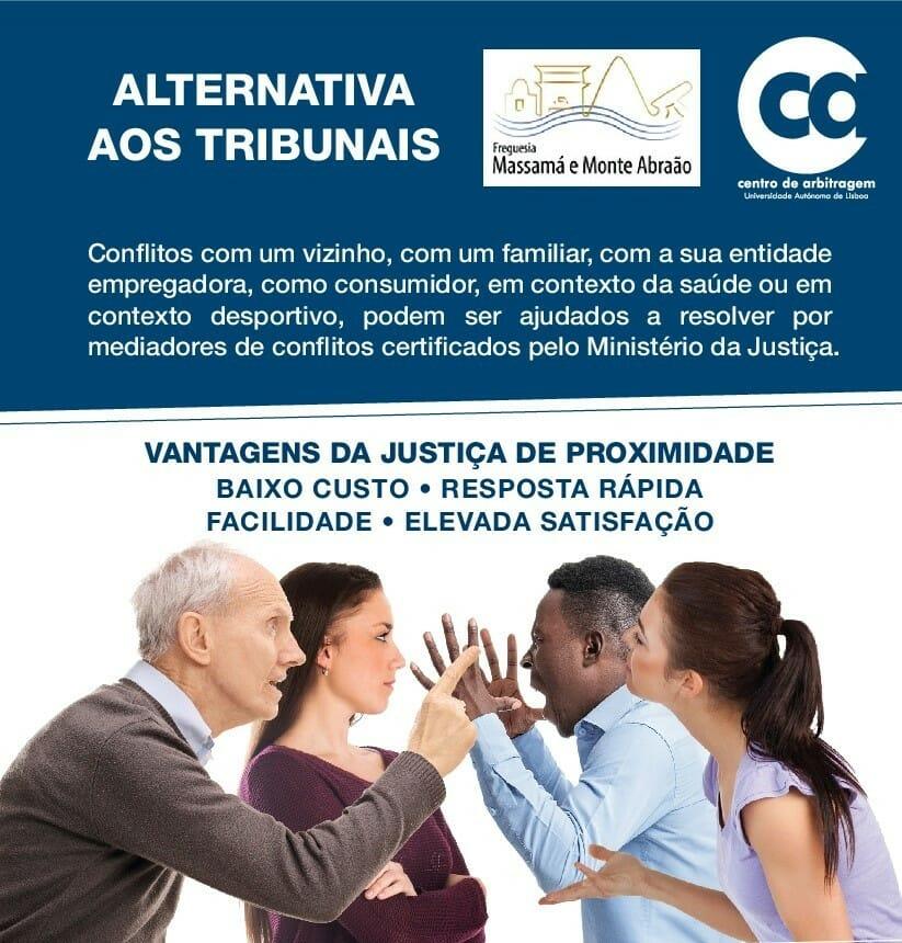 Informação | Alternativa aos tribunais – Parceria com Centro de Arbitragem da Autónoma e Freguesia de Massamá e Monte Abraão