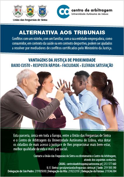 Informação | Alternativa aos tribunais – Parceria com Centro de Arbitragem da Autónoma e União das Freguesias de Sintra