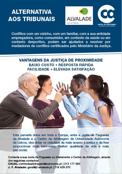 Informação | Alternativa aos tribunais – Parceria com o Centro de Arbitragem da Autónoma e a Freguesia de Alvalade