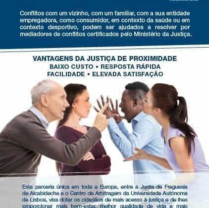 Informação | Alternativa aos tribunais – Parceria com o Centro de Arbitragem da Autónoma e a Freguesia de Alcabideche
